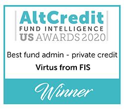AltCredit Fund Intelligence US Awards 2020 Best Fund Admin - private credit Winner logo