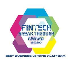 Fintech speak through award 2020 logo