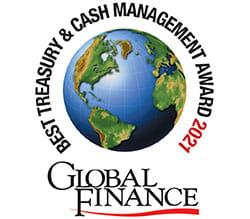 Global Finance - Best treasury & cash management award 2021