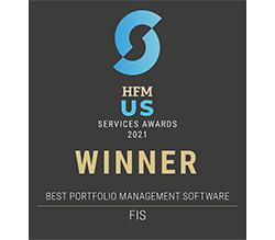 HFM US Service Awards 2021 Winner - Best portfolio management software - FIS