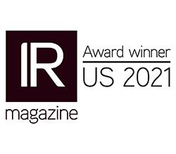 IR magazine Award winner US 2021