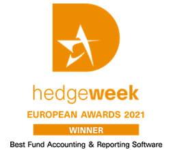 hedgeweek European Awards 2021 Winner - Best Fund Accounting & Reporting Software