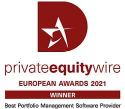 privateequitywire - European Awards 2021 Winner - Best Portfolio Management Software Proviced