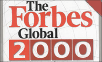 The forbes global 2000 logo