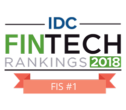 FIS wins IDC Fintech rankings award 2018