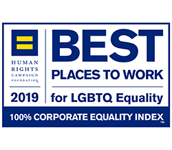 2019 Best Places to Work for LGBTQ Equality - 100% Corporate Equality Index