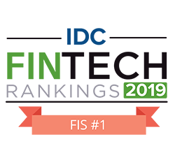 FIS ranked at number 1 in IDC Fintech Rankings 2019 logo
