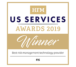 HFM US Services Awards 2019 Winner - Best risk management technology provider - FIS logo