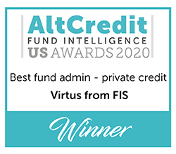 AltCredit Fund Intelligence US Awards 2020 Best Fund Admin - private credit Winner logo