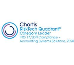 Chartis RiskTech Quadrant Category Leader IFRS 17/LDTI Compliance - Accounting Systems Solutions, 2020 award logo