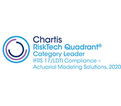 Chartis RiskTech Quadrant Category Leader IFRS 17/LDTI Compliance - Actuarial Modeling Solutions, 2020 award logo