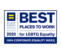 Best places to work 2020 for LGBTQ equility logo