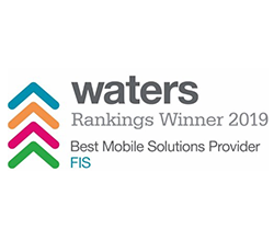 FIS wins Waters Rankings Winner 2019 Best Mobile Solutions Provider logo