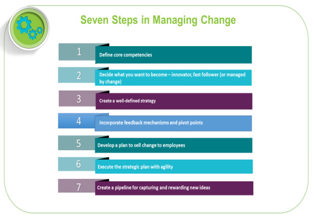 Seven steps managing changes graphic