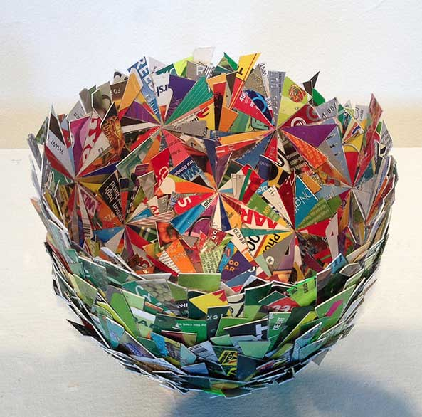 Clever credit card art basket